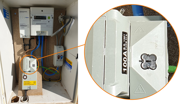 Example 100A Main Fuse for EV Charger Installation